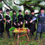 застолье в Абхазии